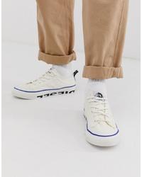 weiße Segeltuch niedrige Sneakers von Diesel