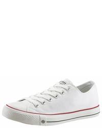 weiße Segeltuch niedrige Sneakers von Dockers by Gerli