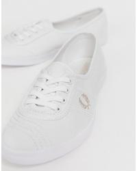 weiße Segeltuch niedrige Sneakers von Fred Perry