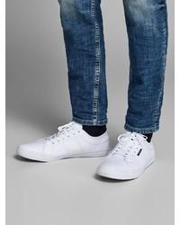 weiße Segeltuch niedrige Sneakers von Jack & Jones