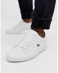 weiße Segeltuch niedrige Sneakers von Lacoste