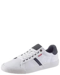 weiße Segeltuch niedrige Sneakers von Levi's