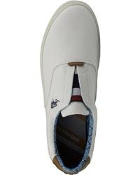 weiße Segeltuch niedrige Sneakers von U.S. Polo Assn.