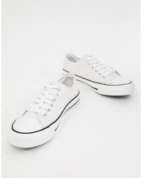 weiße Segeltuch niedrige Sneakers von XTI