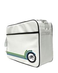 weiße Segeltuch Sporttasche