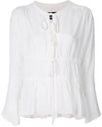 weiße Seide Bluse von Moschino