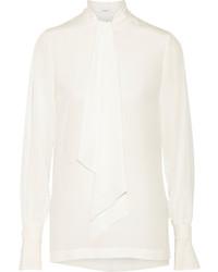 weiße Seide Langarmbluse von Givenchy