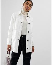 weiße Shirtjacke von ASOS DESIGN
