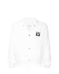 weiße Shirtjacke von Maison Margiela