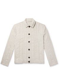 weiße Shirtjacke von Oliver Spencer