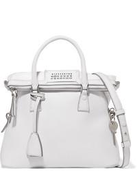 weiße Shopper Tasche aus Leder mit Reliefmuster von Maison Margiela