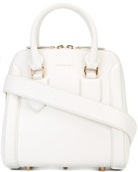 weiße Shopper Tasche aus Leder von Alexander McQueen