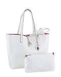 weiße Shopper Tasche aus Leder von Buffalo