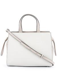 weiße Shopper Tasche aus Leder von Cerruti