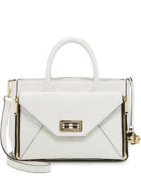 weiße Shopper Tasche aus Leder von Diane von Furstenberg