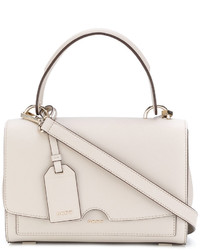 weiße Shopper Tasche aus Leder von DKNY