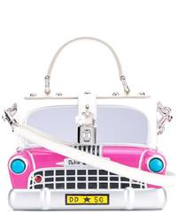 weiße Shopper Tasche aus Leder von Dolce & Gabbana