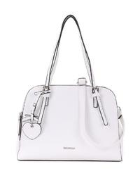 weiße Shopper Tasche aus Leder von EMILY & NOAH