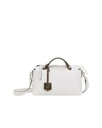 weiße Shopper Tasche aus Leder von Fendi