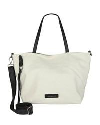 weiße Shopper Tasche aus Leder von FREDsBRUDER