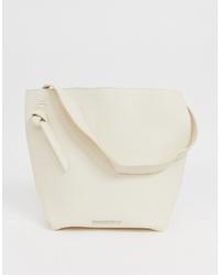 weiße Shopper Tasche aus Leder von French Connection