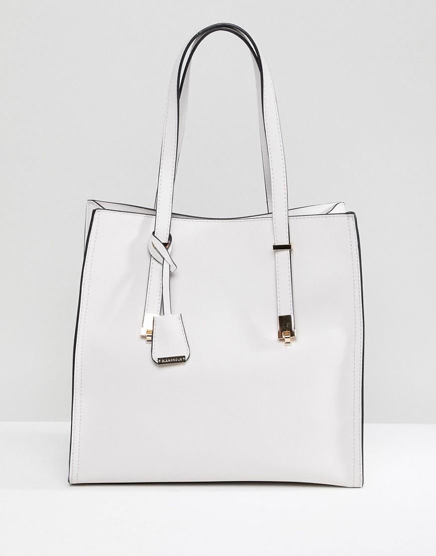 weiße Shopper Tasche aus Leder von Glamorous