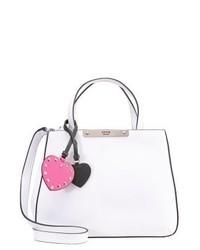weiße Shopper Tasche aus Leder von GUESS