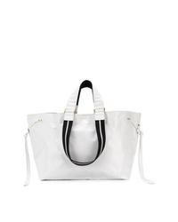 weiße Shopper Tasche aus Leder von Isabel Marant