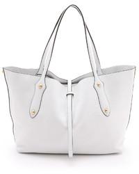 weiße Shopper Tasche aus Leder von Isabella Collection