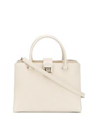 weiße Shopper Tasche aus Leder von Jimmy Choo
