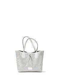 weiße Shopper Tasche aus Leder von Lascana