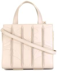 weiße Shopper Tasche aus Leder von Max Mara