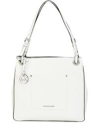 weiße Shopper Tasche aus Leder von Michael Kors