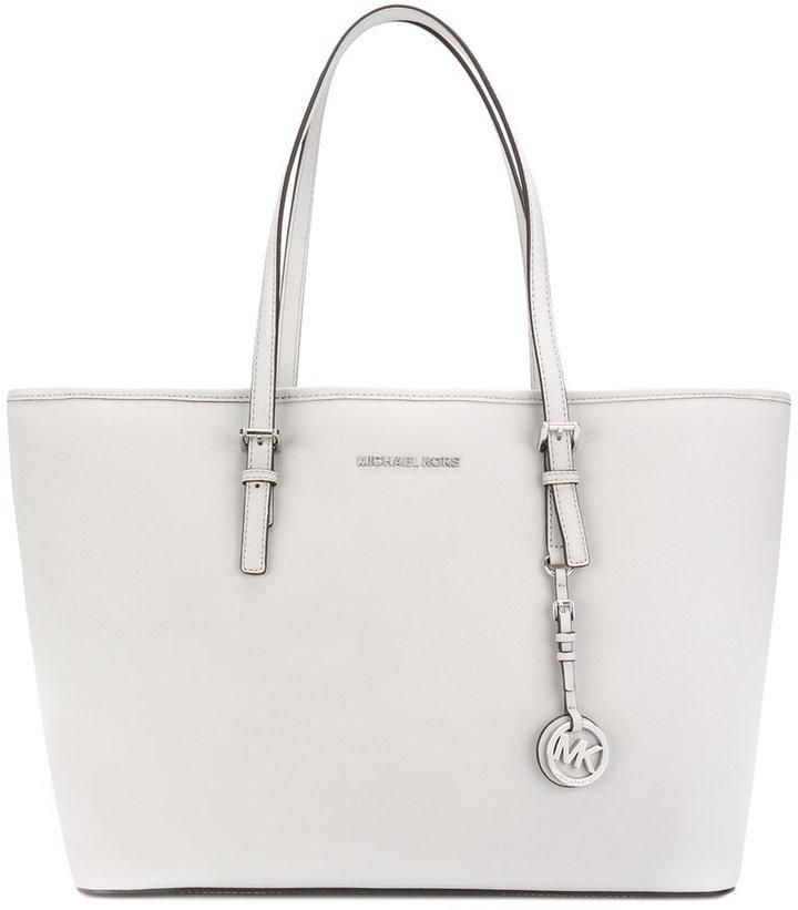 cb105f5aee97e ... weiße Shopper Tasche aus Leder von MICHAEL Michael Kors