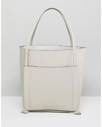 weiße Shopper Tasche aus Leder von Qupid