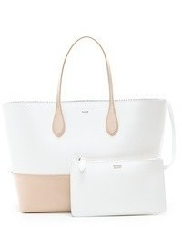 weiße Shopper Tasche aus Leder von Rochas
