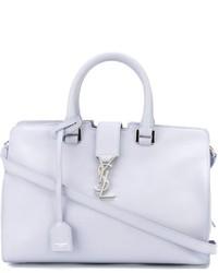 weiße Shopper Tasche aus Leder von Saint Laurent