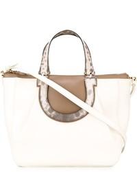 weiße Shopper Tasche aus Leder von Salvatore Ferragamo