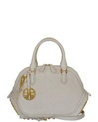 weiße Shopper Tasche aus Leder von SILVIO TOSSI