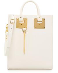 weiße Shopper Tasche aus Leder von Sophie Hulme