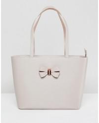 weiße Shopper Tasche aus Leder von Ted Baker