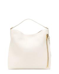 weiße Shopper Tasche aus Leder von Tom Ford