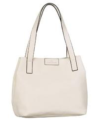 weiße Shopper Tasche aus Leder von Tom Tailor