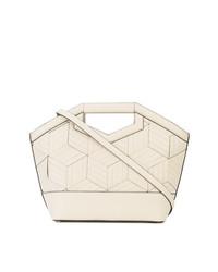 weiße Shopper Tasche aus Leder von Welden