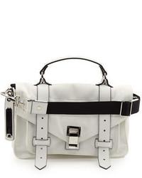 weiße Shopper Tasche aus Nylon