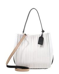 weiße Shopper Tasche aus Segeltuch von DKNY