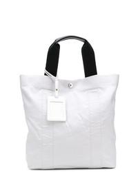 weiße Shopper Tasche aus Segeltuch von Maison Margiela