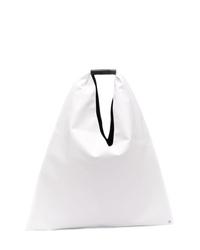 weiße Shopper Tasche aus Segeltuch von MM6 MAISON MARGIELA