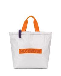 weiße Shopper Tasche aus Segeltuch von Palm Angels