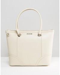 weiße Shopper Tasche von Love Moschino